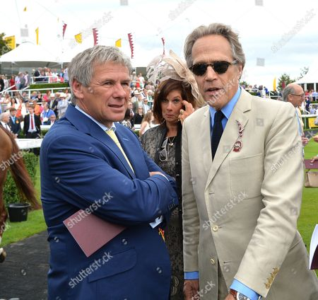 (L) Charlie Gordon Watson and (R) Lord March before The Magnolia Cup The Goodwood Ladies? race on Ladies? Day at The Qatar Goodwood Festival Meeting on Thursday 28th July 2016.