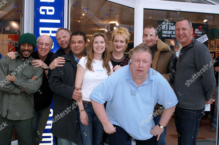 Editorial image of CAST OF 'RED DWARF' AT IB STORES IN SWINDON, WILTSHIRE, BRITAIN - 30 MAR 2006