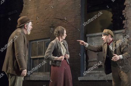 Lloyd Hutchinson as Peter, Josie Walker as Mrs Gogan, Tom Vaughan-Lawlor as The Covey