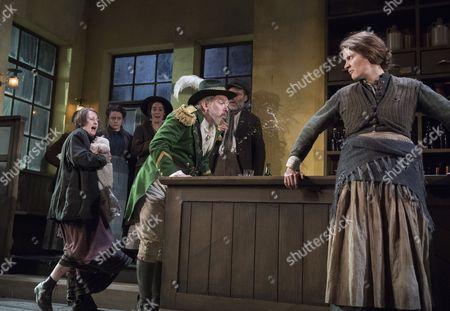 Josie Walker as Mrs Gogan, Lloyd Hutchinson as Peter, Justine Mitchell as Bessie Burgess