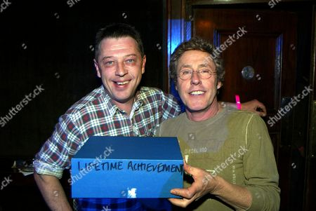 Andy Kershaw presenting the lifetime achievement award to Roger Daltrey