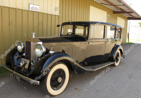 Stock Image of This , photo shows a 1936 Rolls-Royce that was owned by Edward Stanley, son of the man who founded the Stanley Cup, at the Bonanzaville museum in West Fargo, North Dakota