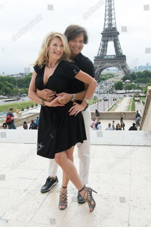 Editorial image of Michael Damian and his wife Janeen out and about, Paris, France - 29 Jul 2016