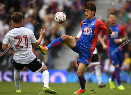 Chung Yong Lee of Crystal Palace during a pre-season friendly between Fulham and Crystal Palace played at Craven Cottage, London on the 30th July 2016