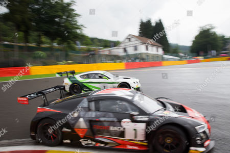 Stock Image of Car 1, Frederic Vervisch, Dries Vanthoor, Will Stevens during the Blancpain Endurance Series at Spa