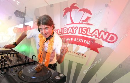 Founder of Bestival, Rob Da Bank, performs a set of summer tunes at First Choice Holiday Island