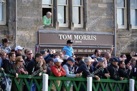 Fans Outside The Tom Morris. The Open Golf St Andrews.