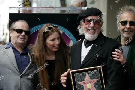 Jack Nicholson, Page Hannah, Lou Adler and Herb Alpert