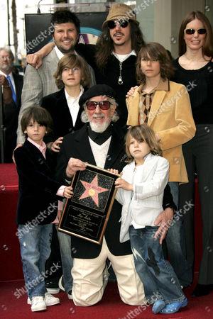 Lou Adler, Cisco Adler, Page Hannah and family