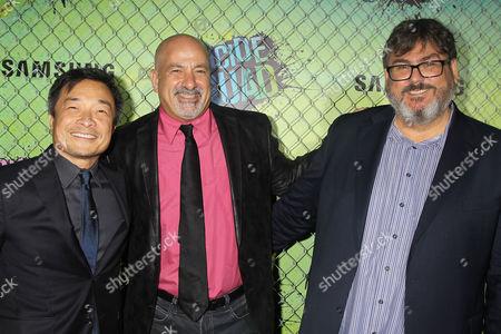 Jim Lee, Dan DiDio and Paul Dini