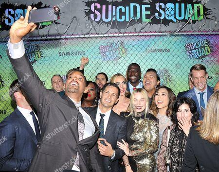 Stock Image of Viola Davis, Margot Robbie Jones, Will Smith, Jared Leto