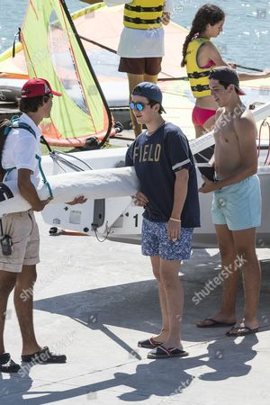 Prince Felipe Juan Froilan Prepares the boat with friends
