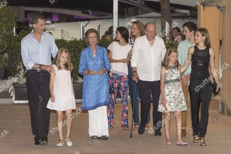 Editorial photo of Spanish royal family out and about, Majorca, Spain - 31 Jul 2016