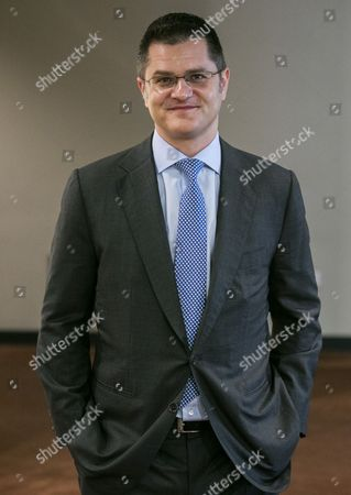 Vuk Jeremic, former Minister for Foreign Affairs of the Republic of Serbia and former President of the UN General Assembly, speaks to journalists regarding his candidacy for the UN Secretary General Position