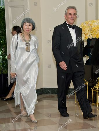 Author Amy Tan and Louis DeMattei