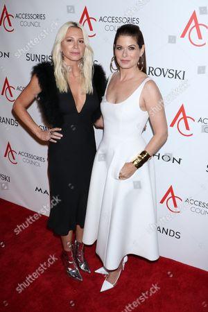 Debra Messing and Jennifer Fisher