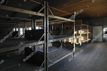 Bunk room at the concentration camp, Dachau near Munich, Bavaria, Germany