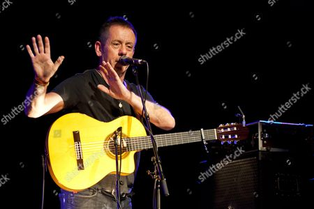 Irish singer and songwriter Kevin Barry Moore, also known as Luka Bloom playing live in the Schueuer concert hall, Lucerne, Switzerland