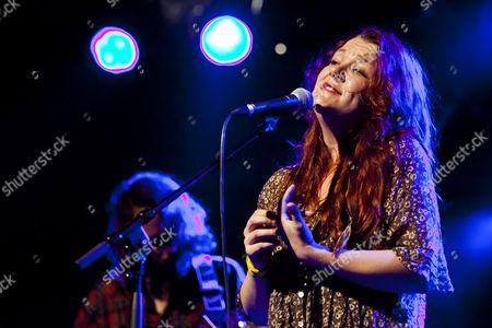 U.S. singer-songwriter Audra Mae performing live in the Schueuer Concert Hall, Lucerne, Switzerland