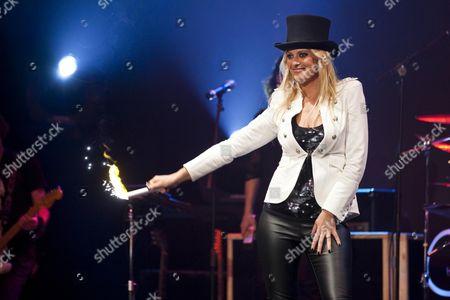 Christa Rigozzi, former Miss Switzerland, model and presenter, live performance, Das Zelt, events venue, Rock Circus in Lucerne, Switzerland
