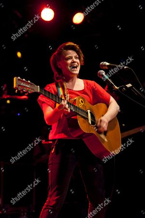 Stock Picture of The Irish singer-songwriter and musician Wallis Bird performing live at the Schueuer, Lucerne, Switzerland