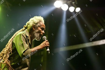 The Jamaican Reggae singer Max Romeo singing live at the Soundcheck open air festival in Sempach-Neuenkirch, Lucerne, Switzerland