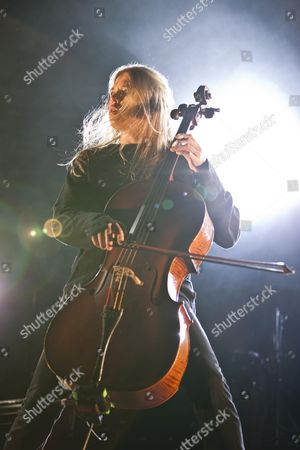 Eicca Toppinen of the Finnish band ''Apocalyptica'' playing live at the Soundcheck Open Air in Sempach-Neuenkirch, Lucerne, Switzerland