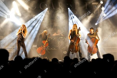 The Finnish band ''Apocalyptica'' playing live at the Soundcheck Open Air in Sempach-Neuenkirch, Lucerne, Switzerland