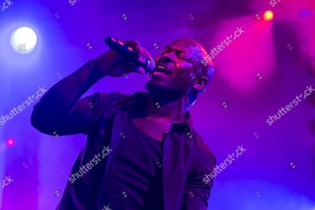 Singer and frontman Kelvin Swaby of the British indie rock band ''The Heavy'' performing live at the Lucerne hall of the KKL, Blue Balls Festival, Lucerne, Switzerland