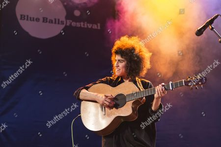 The British singer-songwriter Karima Francis performing live at the Blue Balls Festival, Pavilion at the Lake, Lucerne, Switzerland