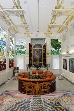 Adolf Boehm-Saal hall, Ernst Fuchs Museum, former mansion of architect Otto Wagner, Vienna, Austria