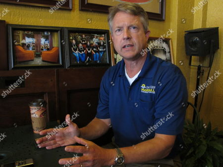 Roger Marshall, a Republican candidate in the 1st Congressional District of central and western Kansas, answers questions from The Associated Press during an interview in Emporia, Ill. Marshall hopes to unseat U.S. Rep. Tim Huelskamp, R-Kan in the upcoming primary race