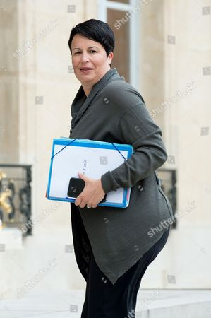 Estelle Grelier arrives to attend the cabinet meeting