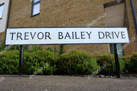 Stock Photo of Local road named after ex-Essex cricketer Trevor Bailey ahead of Essex CCC vs Sussex CCC, Specsavers County Championship Division 2 Cricket at Castle Park on 4th August 2016