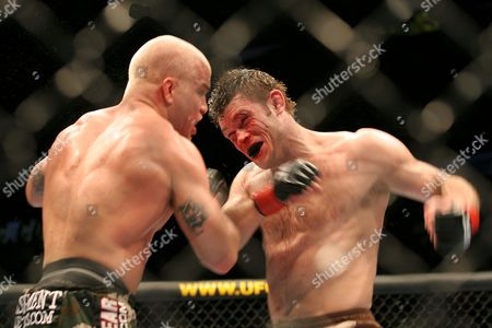 Forrest Griffin in his fight against Tito Ortiz