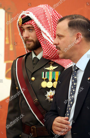 Prince Hashem Bin al-Hussein with his brother Prince Faisal bin Hussein