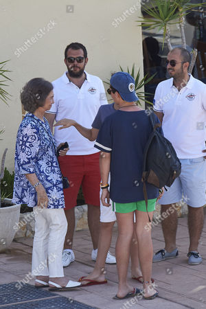 Former Queen Sofia of Spain and Prince Felipe Juan Froilan