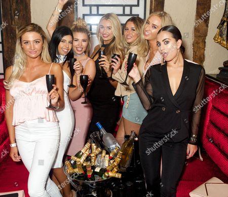 Liana Isadora, Cara de la Hoyde, Olivia Buckland, Rachel Fenton, Emma Jones, Lauren Whiteside and Katie Salmon