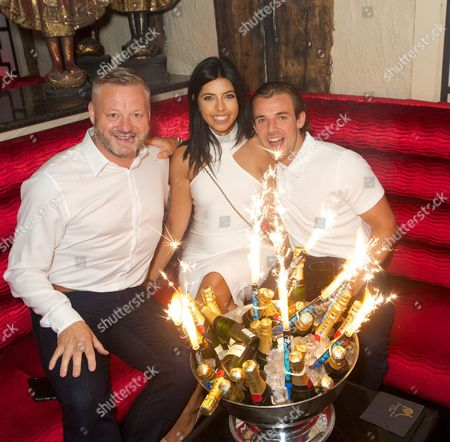 Stock Picture of Mick Norcross, Cara de la Hoyde and Nathan Massey