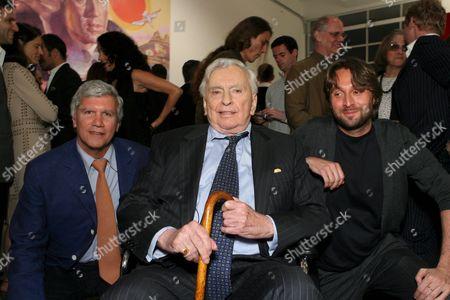 Larry Gagosian, Gore Vidal and Francesco Vezzoli