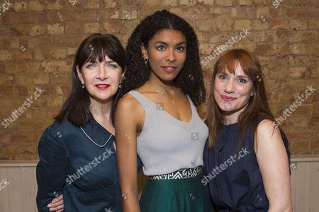 Stock Image of Maureen Beattie (Helen), Thalissa Teixeira (Des) and Charlotte Randle (Mary)