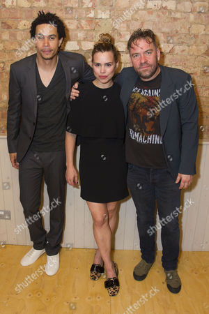 John Macmillan (Victor), Billie Piper (Her) and Brendan Cowell (John)