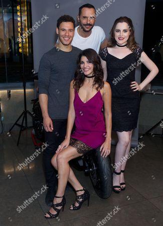 David Albury, Michael Greco (white t-shirt), Natalie Anderson (purple), Niamh Perry (black dress)