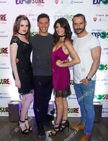 Niamh Perry (black dress), David Albury, Natalie Anderson and Michael Greco
