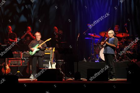 Walter Becker and Donald Fagen of Steely Dan performing