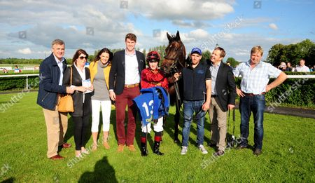 Stock Image of TIPPERARY SWEET SOUNDS and Colin Keane in the winners enclosure with Ger & Shane Lyons and breeder Shane O'Rourke & Family HEALY RACING