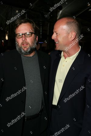 Stock Image of David Willis and Bruce Willis
