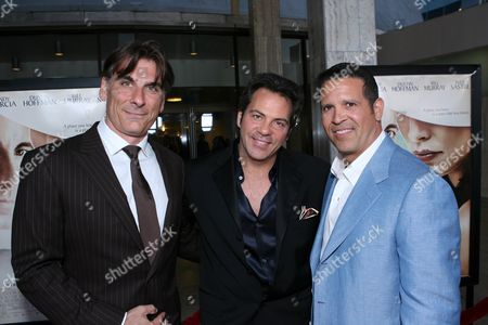 Frank Mancuso Jr., Tom Gores and Johnny Lopez