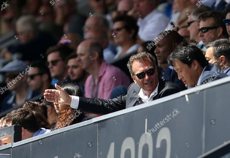 Leeds United owner Massimo Cellino during the Sky Bet Championship match between Queens Park Rangers and Leeds United played at Loftus Road, London on 7th August 2016