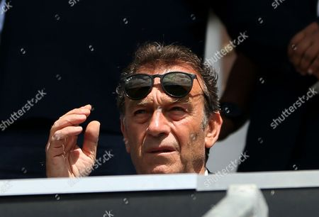 Leeds owner Massimo Cellino during the Sky Bet Championship match between Queens Park Rangers and Leeds United played at Loftus Road, London on 7th August 2016